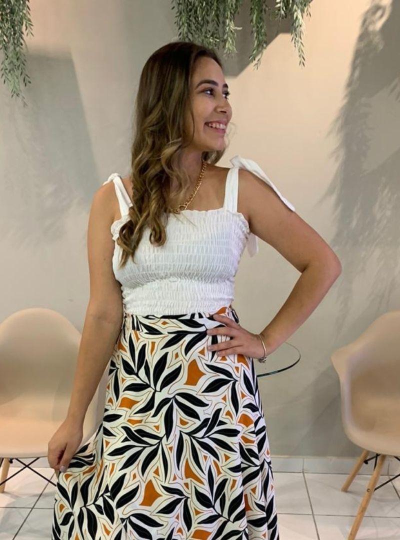 Blusa Lastex Alça Regulavel - Daniela
