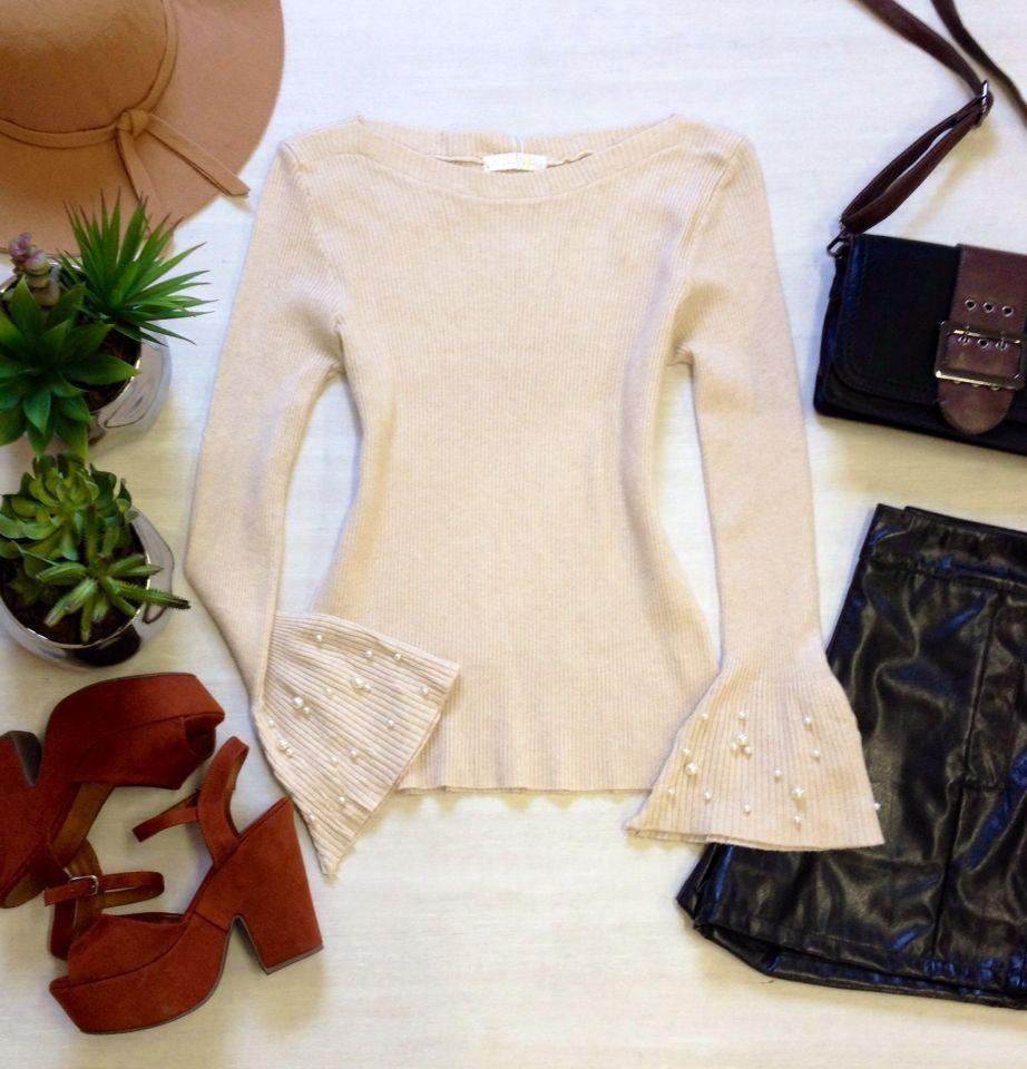 eecb906a121e2 TemNaMiss blusa manga longa flare tricot camila areia