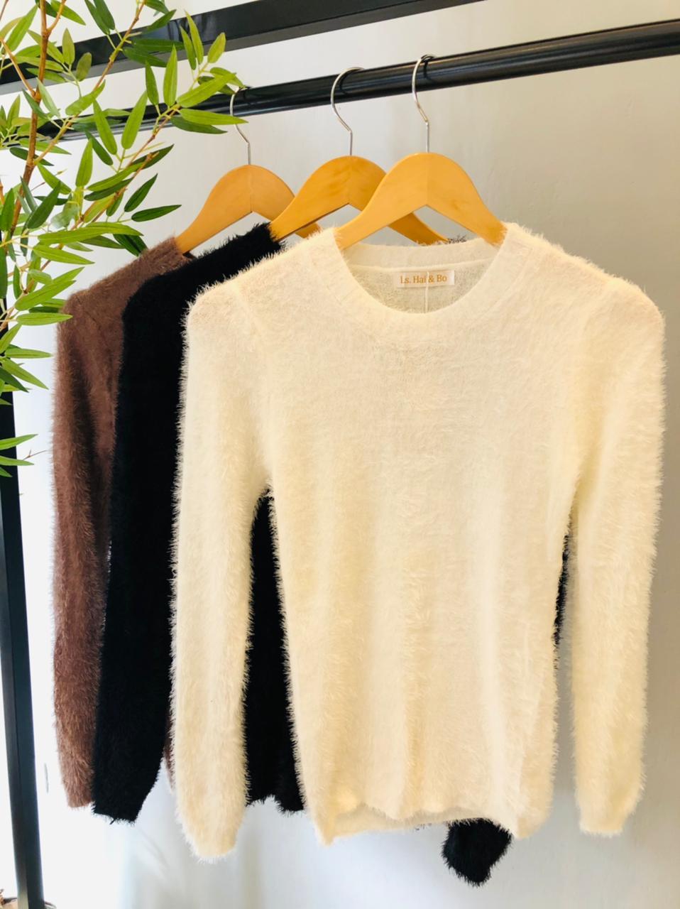 Blusa Modal Tricô Peluciada - Luana
