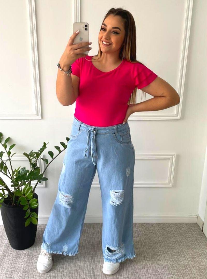 Calça Jeans Wide Leg - Betina
