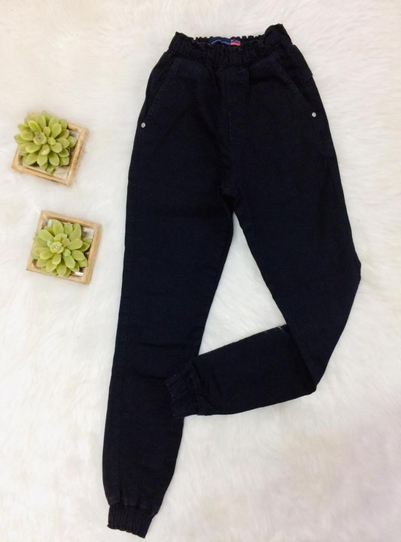 Calça Jogger Jeans Capitan - Preta