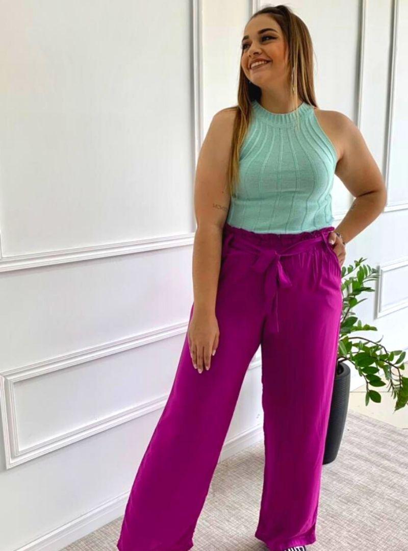 Calça Pantalona Viscose - Claudia