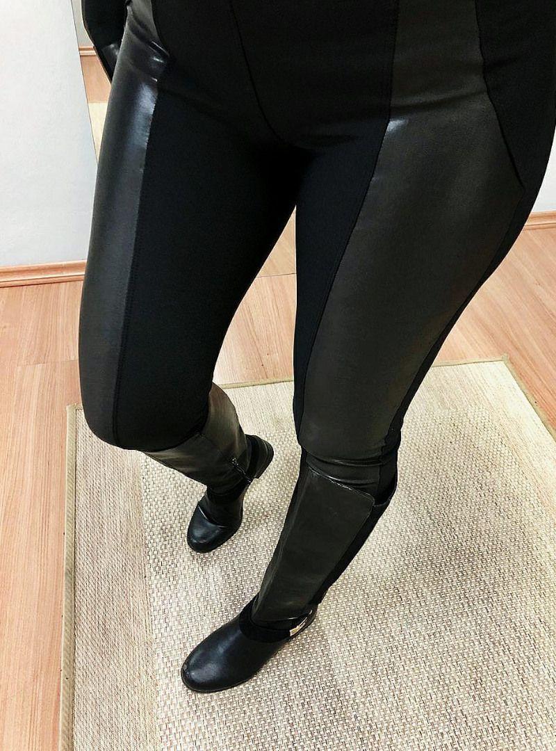 Calça Skinny Cirrê Montaria - Roberta Preta