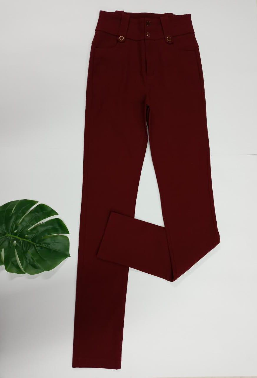 Calça Skinny Poliamida com Elastano - Marsala