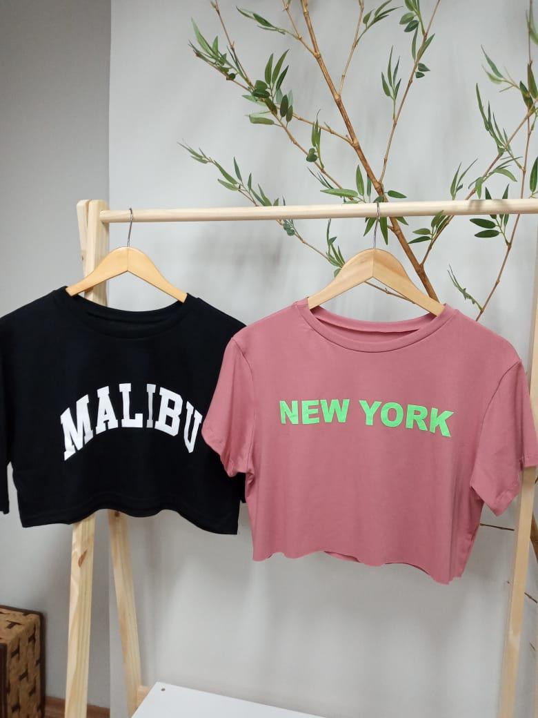 Camiseta Cropped Manga Curta Viscolycra - Ely