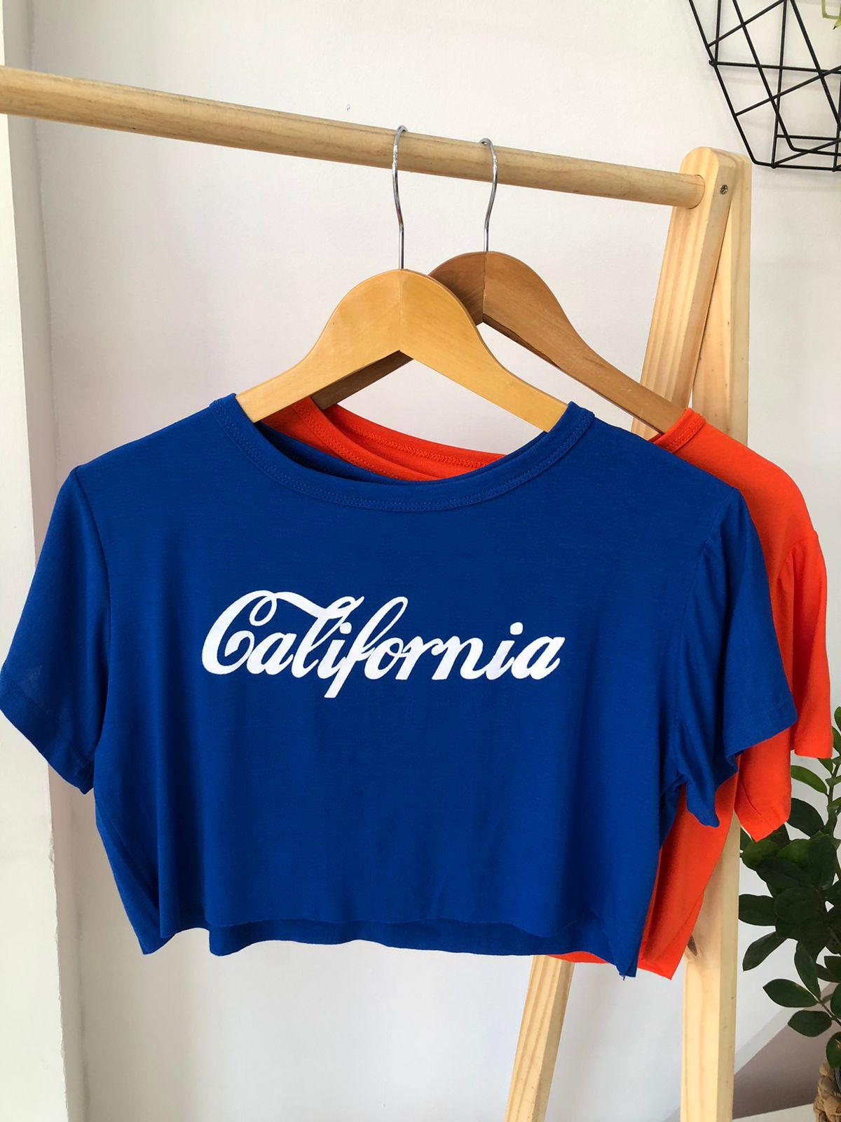 Camiseta Cropped Viscolycra - Califórnia