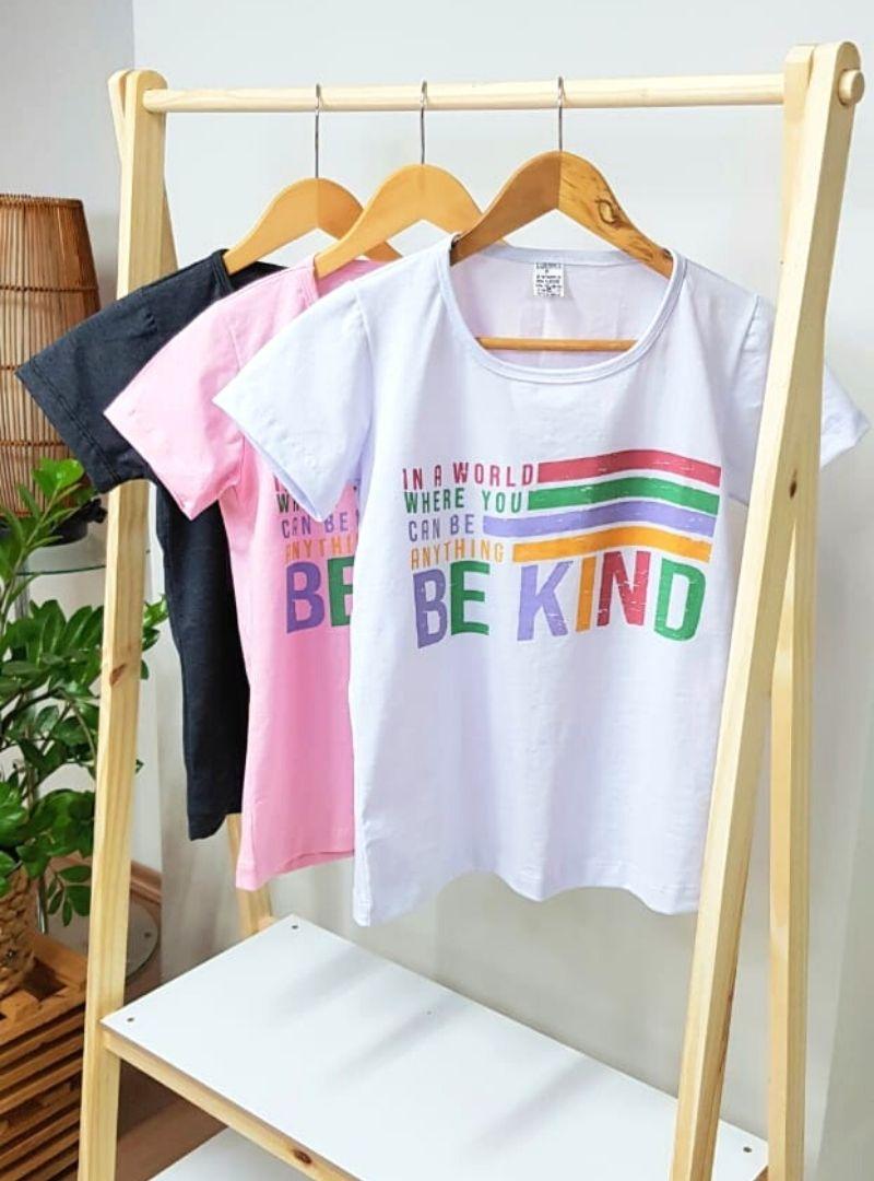 Camiseta Feminina Manga Curta Algodão - Claudia