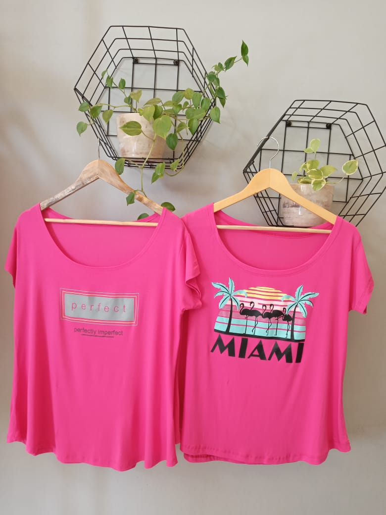 Camiseta Viscolycra  Plus Size - Miami