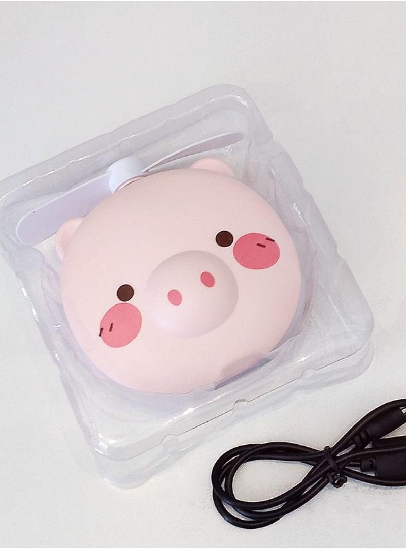 Espelho de Led Para Maquiagem Portátil Com Ventilador - Porquinho