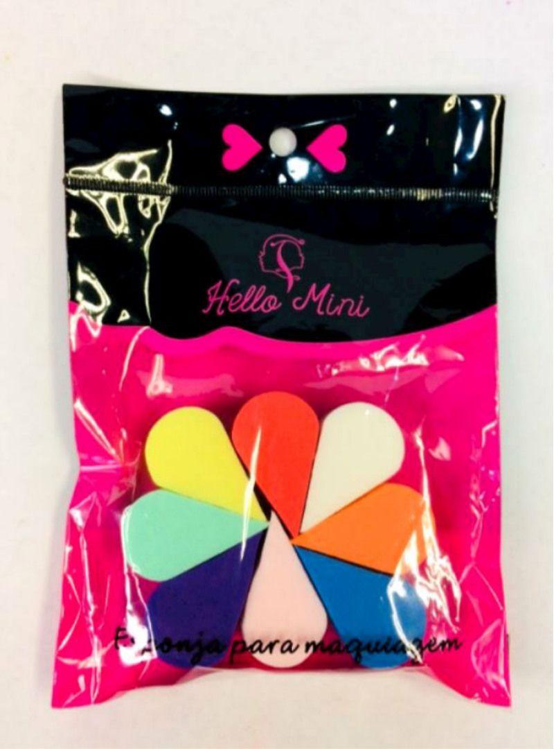 Kit 8 Esponjas Para Maquiagem - Hello Mini