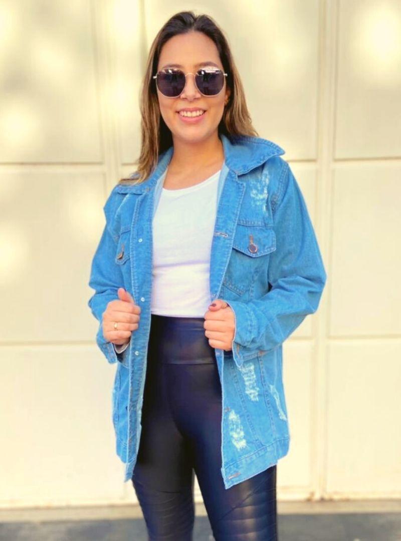 Maxi Jaqueta Jeans - Carla