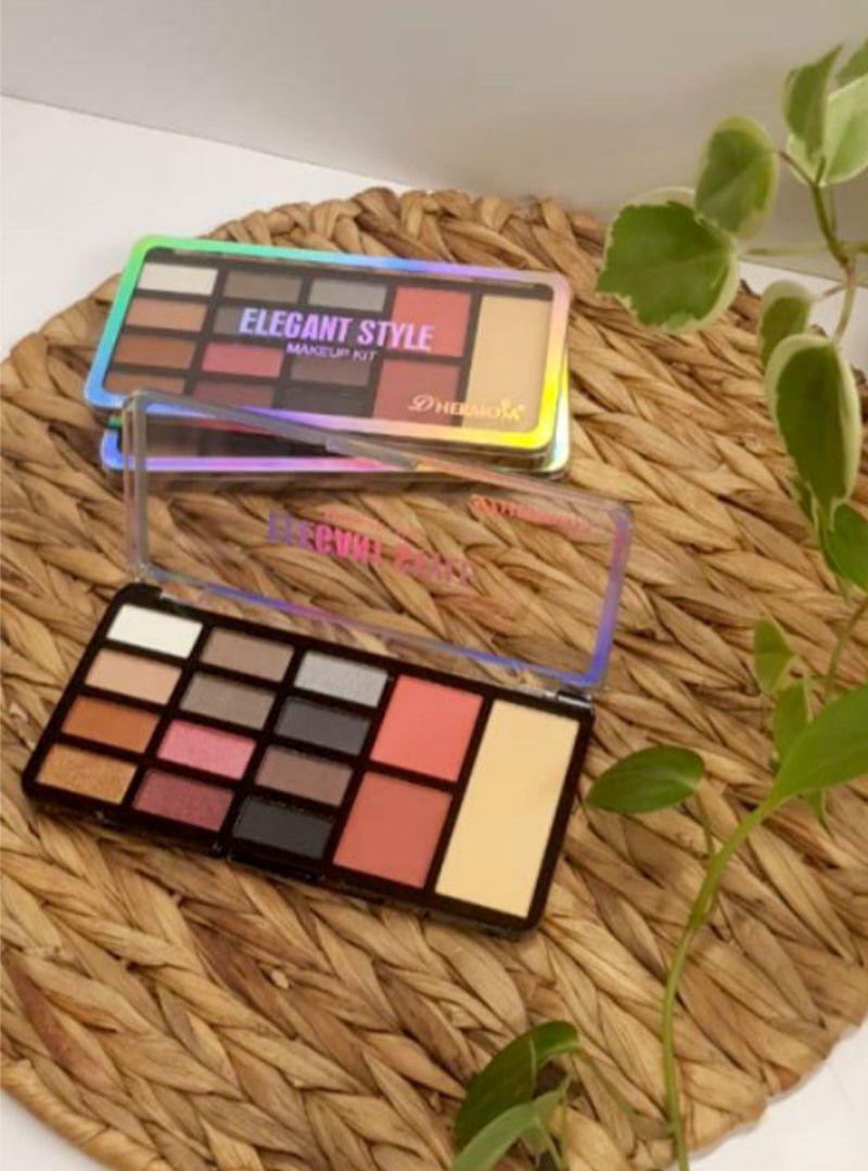 Paleta de Sombras 15 Cores Elegant Style - Dhermosa