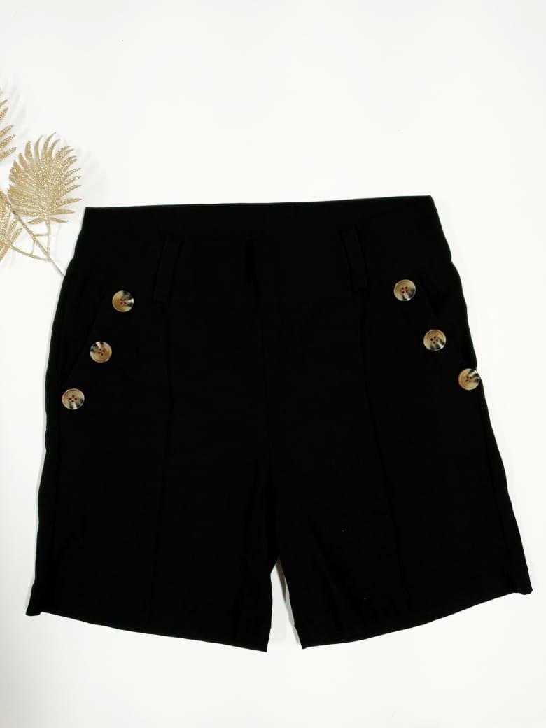 Shorts Curto Plus Size Bengaline  - Solange