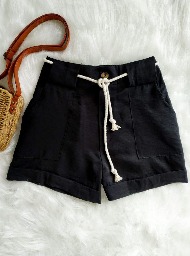 Shorts Curto Poliamida Cinto de Cordão - Catarina
