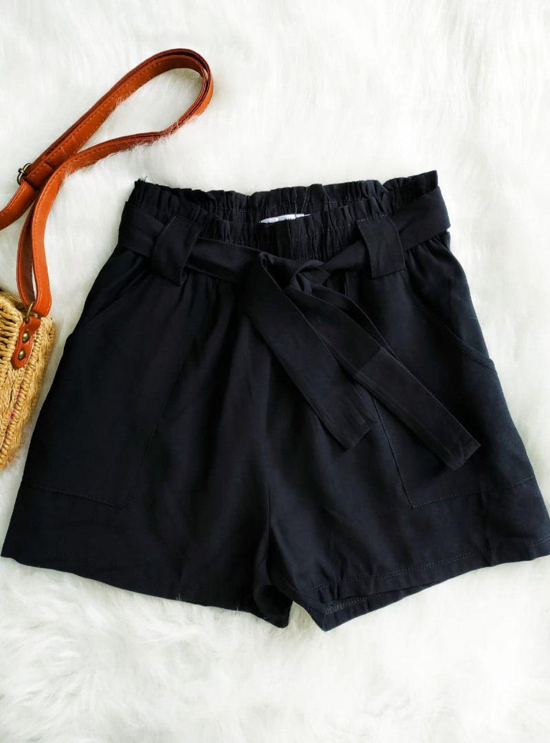 Shorts Curto Poliamida Cinto - Rafaela