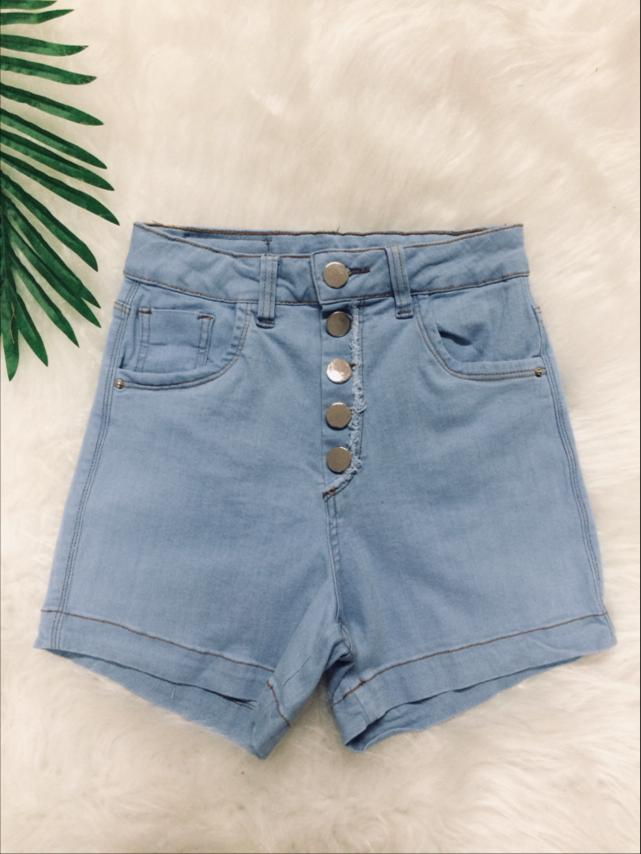 Shorts Hot Pants Meia Coxa Jeans - Sara