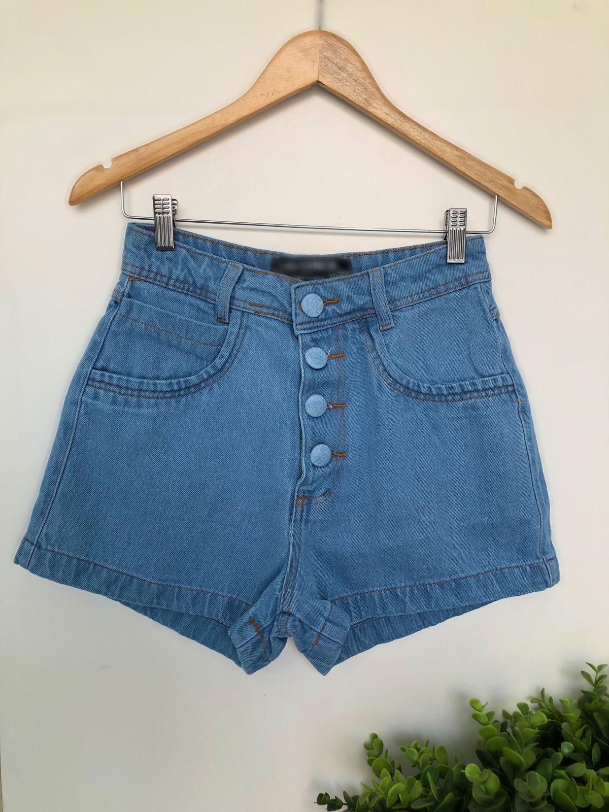 Shorts Jeans Botões - Andreia