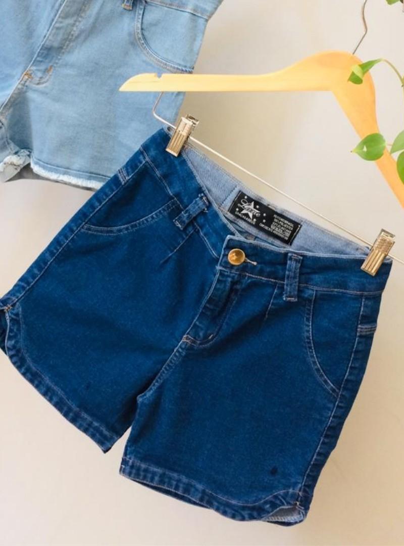 Shorts Meia Coxa Jeans - Luana