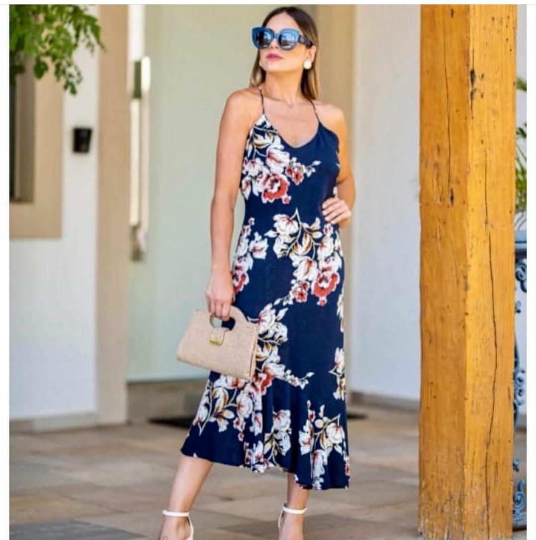 Vestido Assimétrico Viscose - Anita