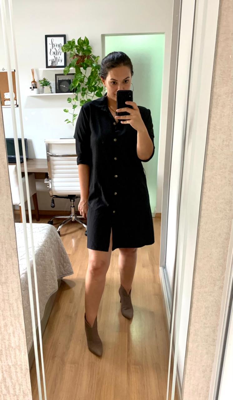 Vestido Chemise Crepe - Livia