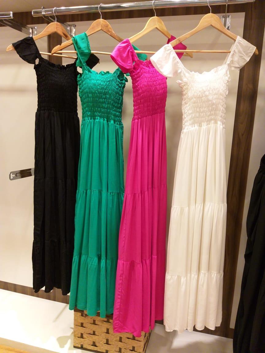 Vestido Ciganinha Lastex Longo - Luciana