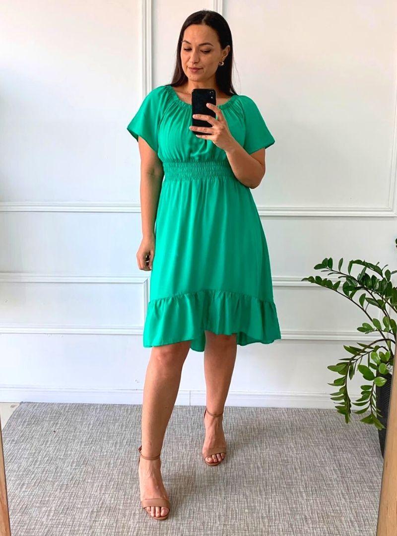 Vestido Ciganinha Plus Size Lastex Viscolinho - Izabel