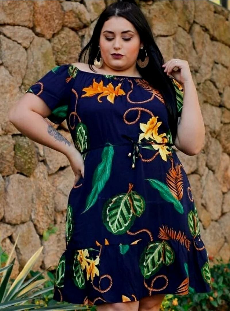 Vestido Curto Ciganinha Viscose - Sara