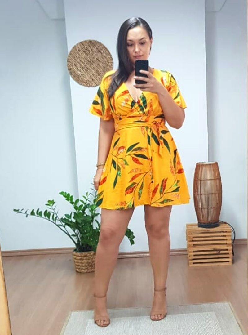 Vestido Curto Plus Size Viscose - Eliana