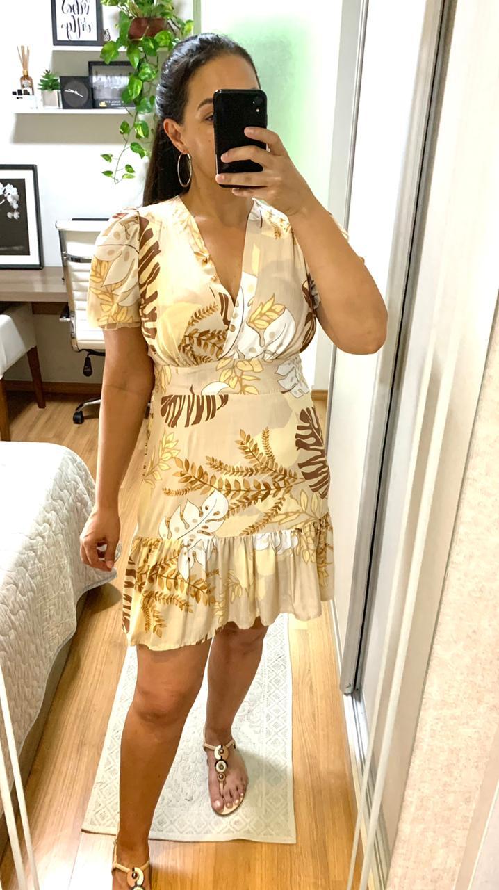 Vestido Curto Viscolinho - Fernanda
