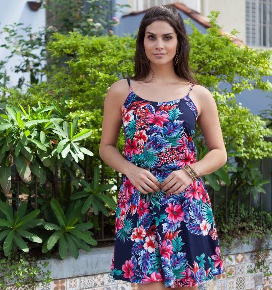 119fe3fdf Vestido Curto Viscose - Lauren Marinho