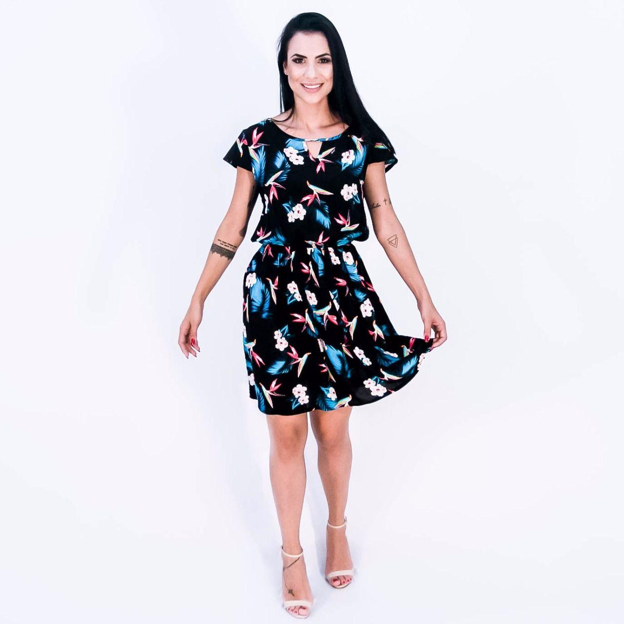 70ac14723 Vestido Curto Viscose - Olivia Preto