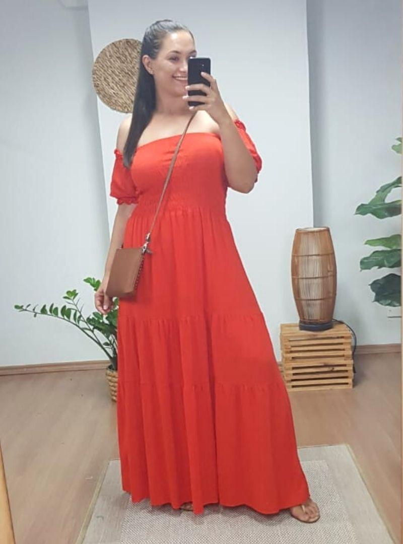 Vestido Longo Ciganinha Lastex - Yanka