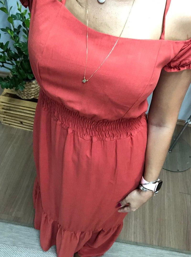 Vestido Longo Ciganinha Viscolinho Lastex - Milena