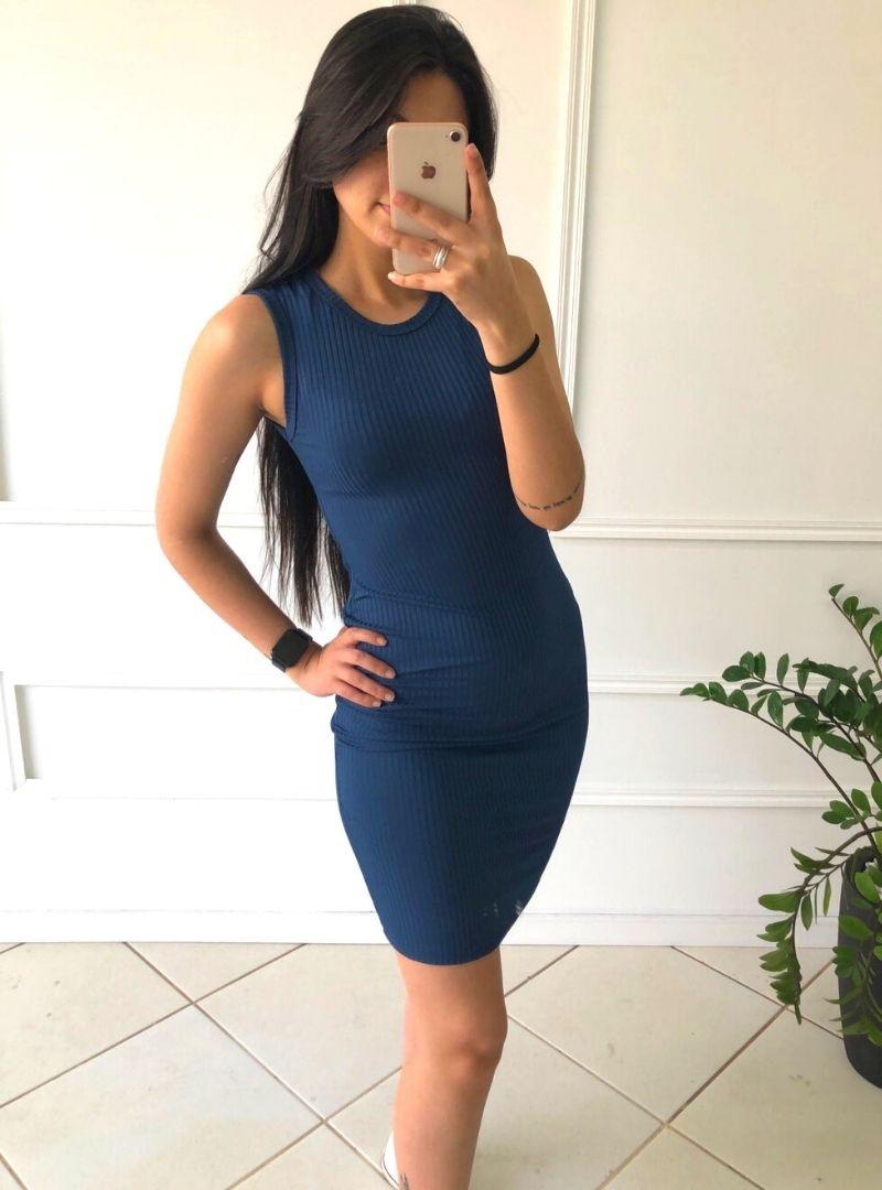 Vestido Midi Canelado - Mayara