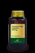 Curcuma Longa e Piperina 500 mg 100 Cápsulas