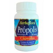 Própolis 50 mg Herbaflora 45 Cápsulas