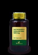 Uxi Amarelo e Unha de Gato 500 mg 60 Cápsulas