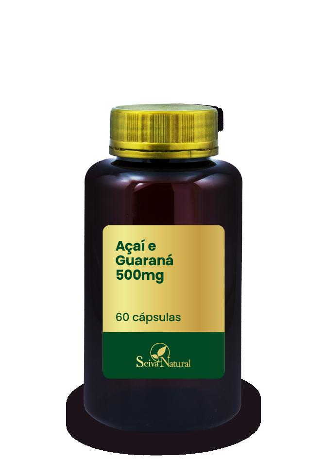 Açaí e Guaraná 500 mg 60 Cápsulas
