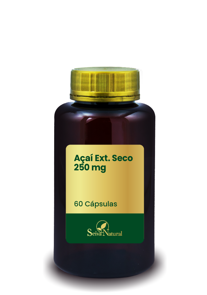 Açaí Ext. Seco 250 mg 60 Cápsulas