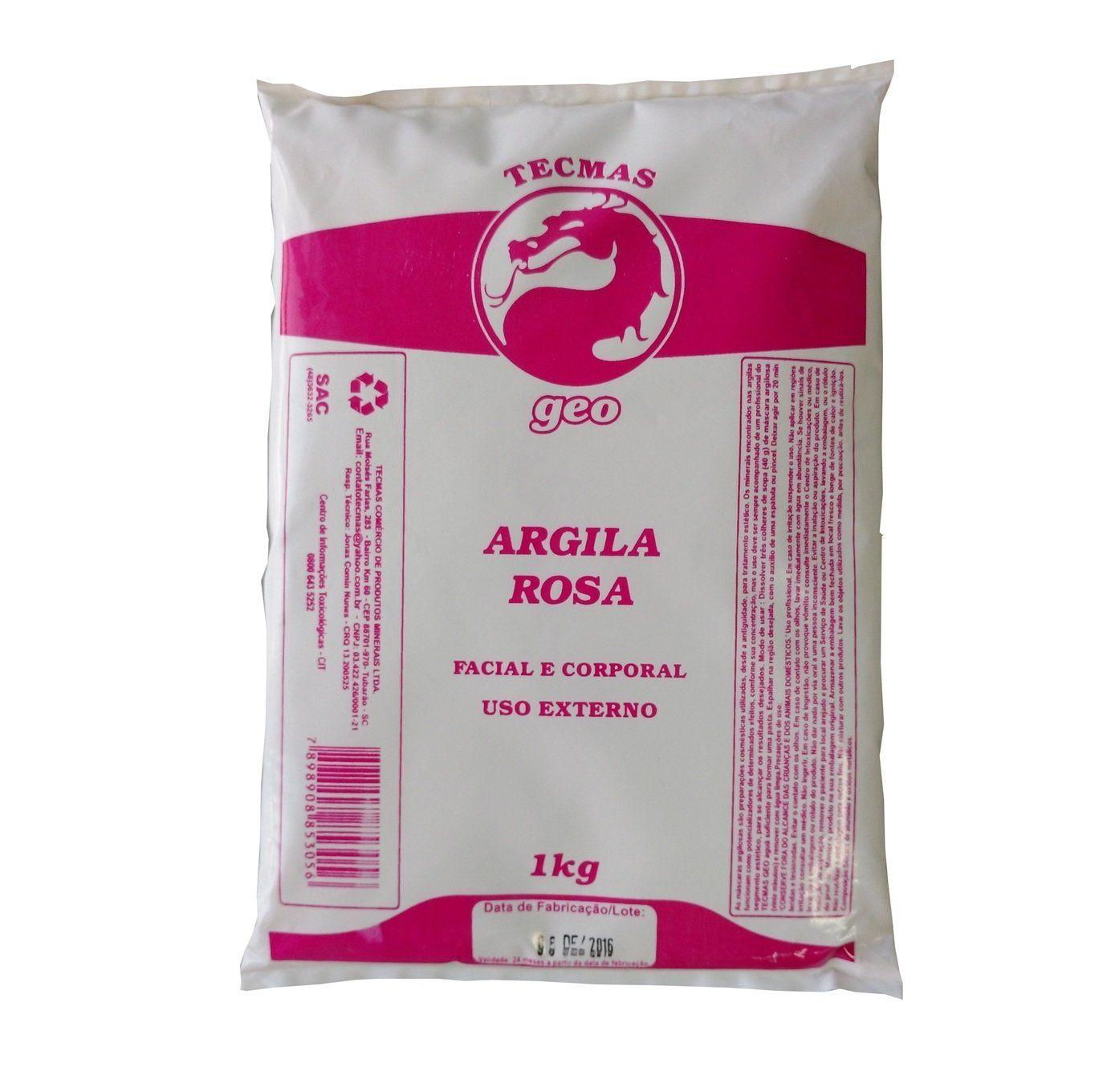 Argila Rosa Facial e Corporal Tecmas Geo 1 kg