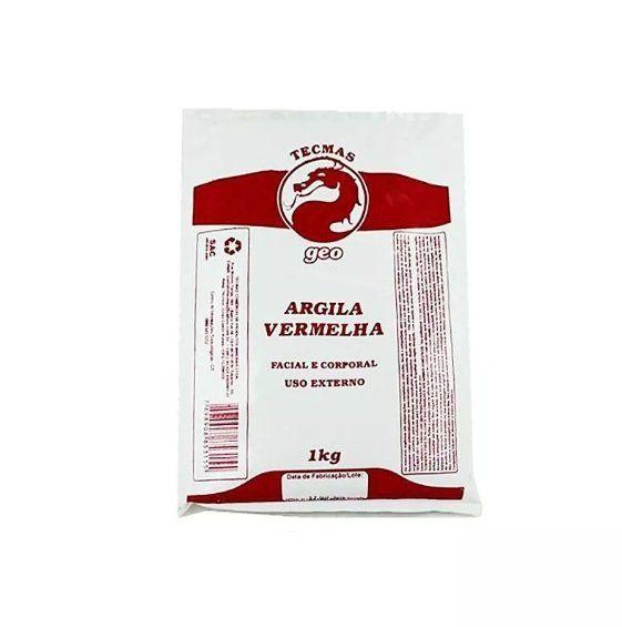 Argila Vermelha 1kg Facial e Corporal Tecmas Geo