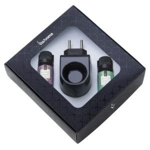 Aromatizador  Elétrico Plástico Preto c/ 02 essencias de 10 ml Via Aroma