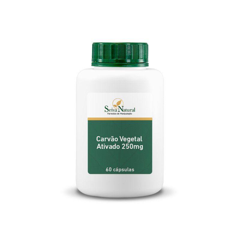 Carvão Vegetal Ativado 250 mg 60 Cápsulas