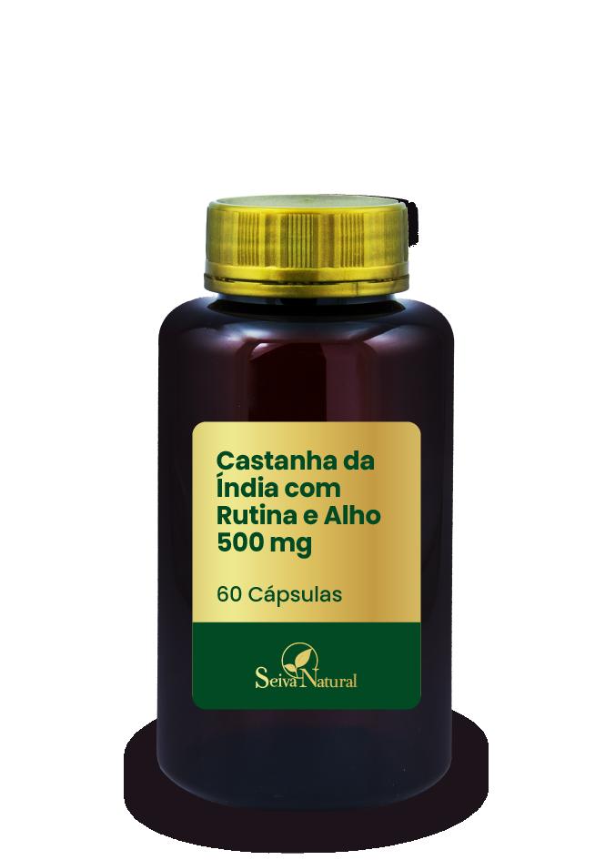 Castanha da Índia com Rutina e Alho 500 mg 60 Cápsulas