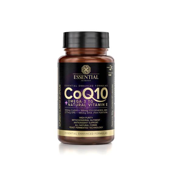Coenzima Q10 + Omega-3 TG + Natural Vitamina E 60 Cápsulas Essential