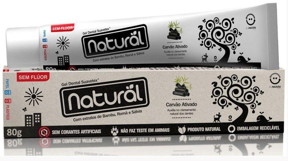 Creme Dental de Carvão Ativado Orgânico Natural