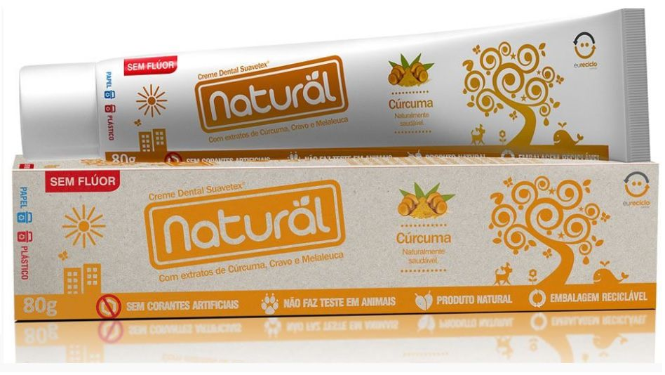 Creme Dental de Cúrcuma Orgânico Natural