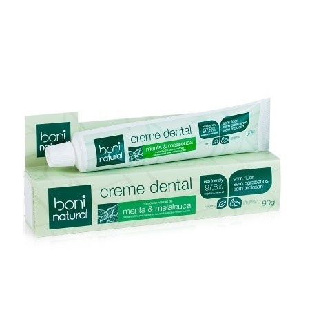 Creme Dental Vegano Sem Fluor Boni Natural 90 g