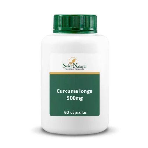 Cúrcuma Longa e Piperina 500 mg 60 Cápsulas