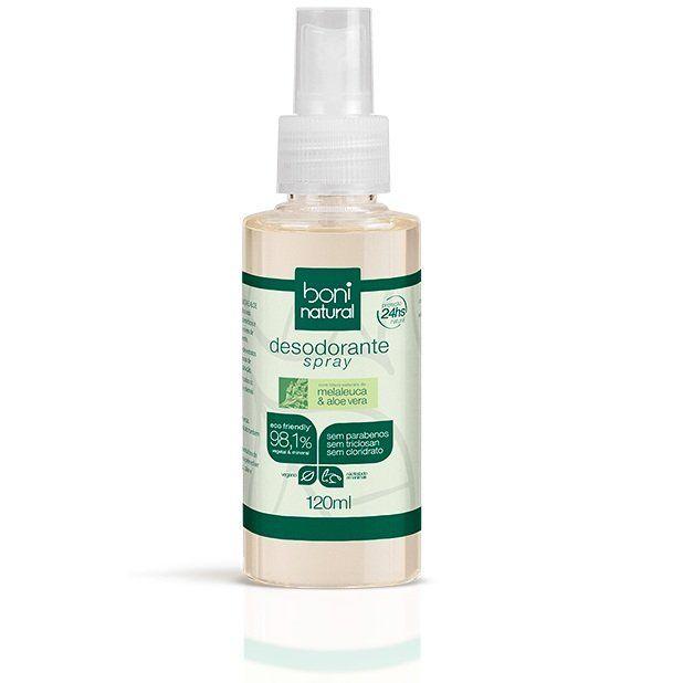 Desodorante Spray 120 ml Sem Álcool com Óleos Naturais Boni Natural